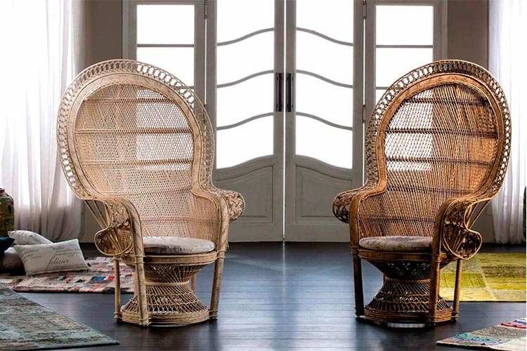 Top 10 sillas y sillones de cine | Sillón de rattan Emmanuelle | Ámbar Muebles