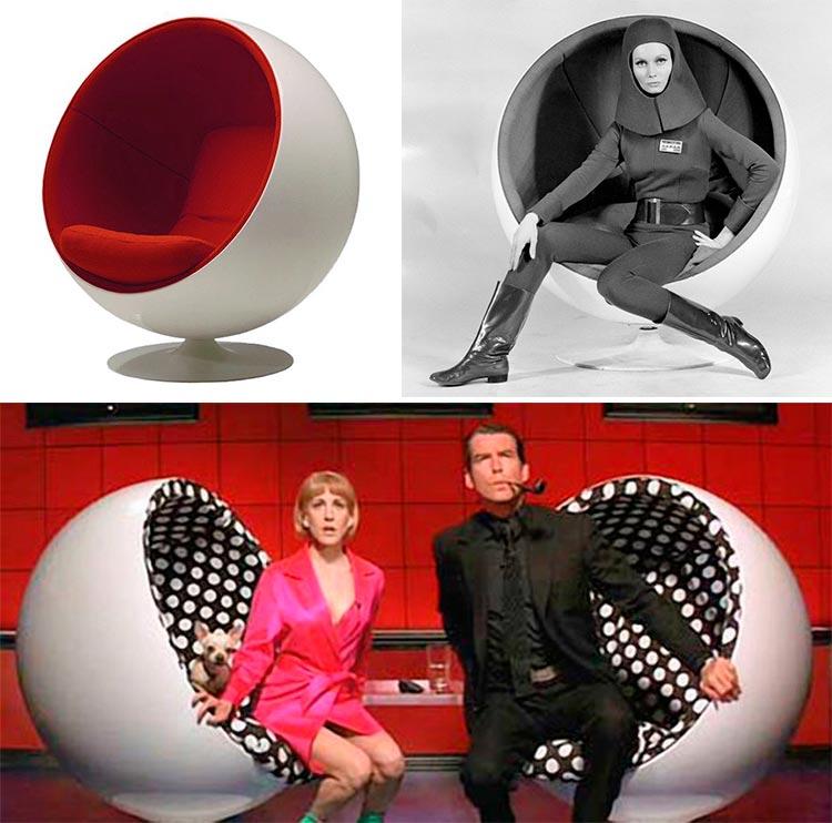 Top 10 sillas y sillones de cine | 'Ball Chair' de Eero Aarnio |  Mars Attacks!