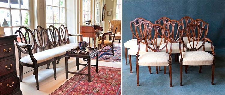 Top 10 sillas y sillones de cine | Silla Hepplewhite | Inspiración Pinterest