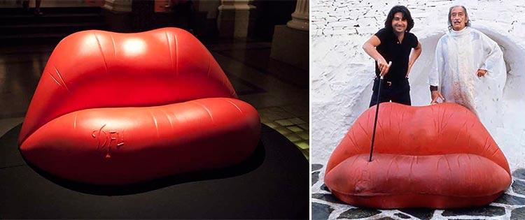 Top 10 sillas y sillones de cine | 'Sofá Labios' de Dalí | Ámbar Muebles