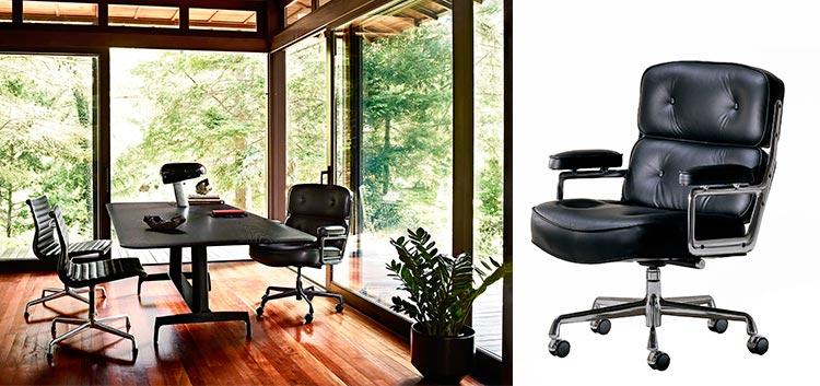 Top 10 sillas y sillones de cine | Silla ejecutiva de Ray y Charles Eames | Inspiración Pinterest