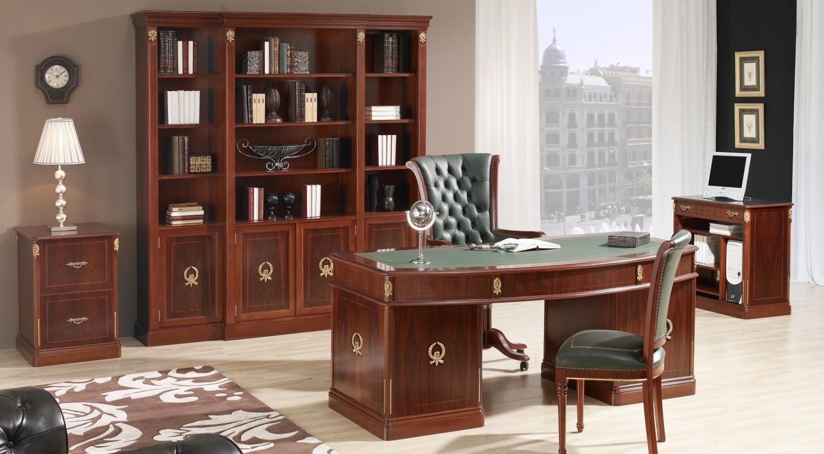 Mesas de despacho cl sicas espacios de trabajo acogedores - Ideas para decorar despacho abogados ...