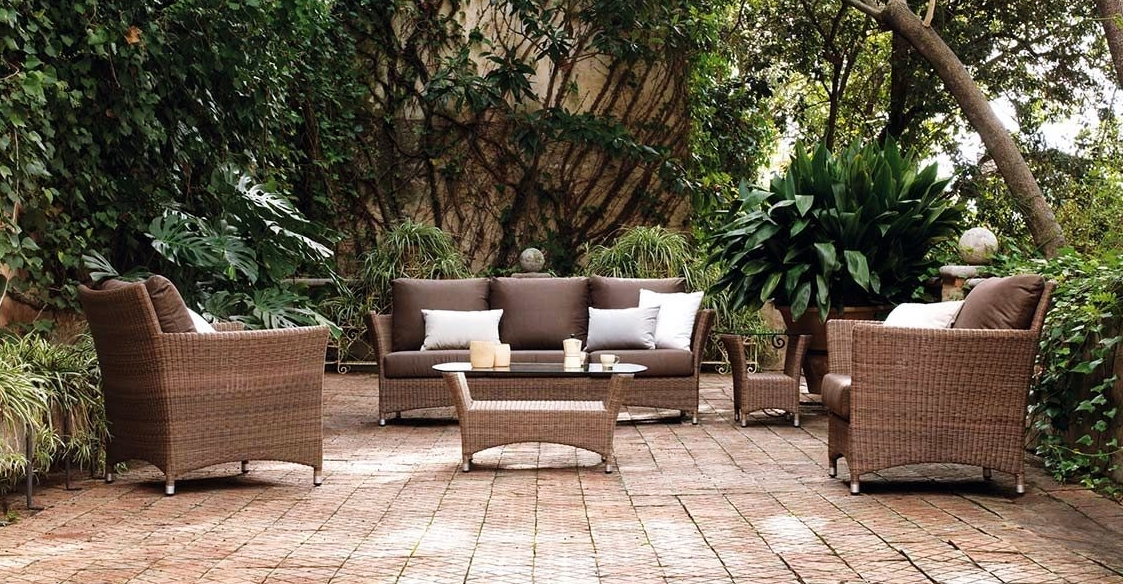 Muebles terraza rattan set de exterior mesa sillones for Jardin y exterior muebles terraza