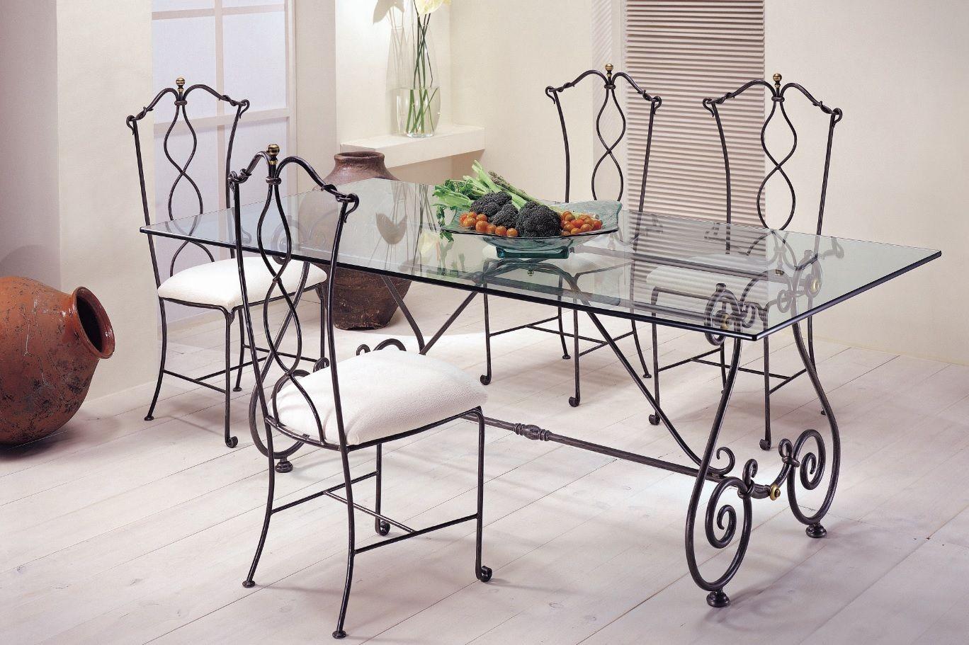 Muebles de comedor de hierro forjado 20170719180052 for Sillas de forja para comedor