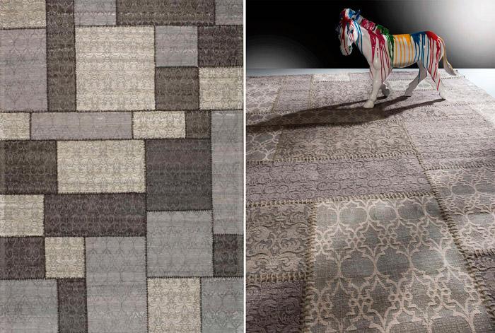alfombra patchwork dark grey en mbar muebles - Alfombras De Diseo