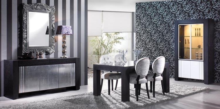 Decoración artesanal en pan de oro y pan de plata para muebles de ...