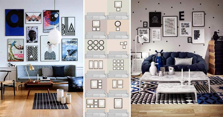 Gu a para crear composiciones decorativas con cuadros for Composiciones de salon