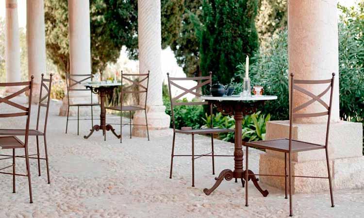 Muebles de forja en valencia mesa de forja elevable for Muebles jardin valencia