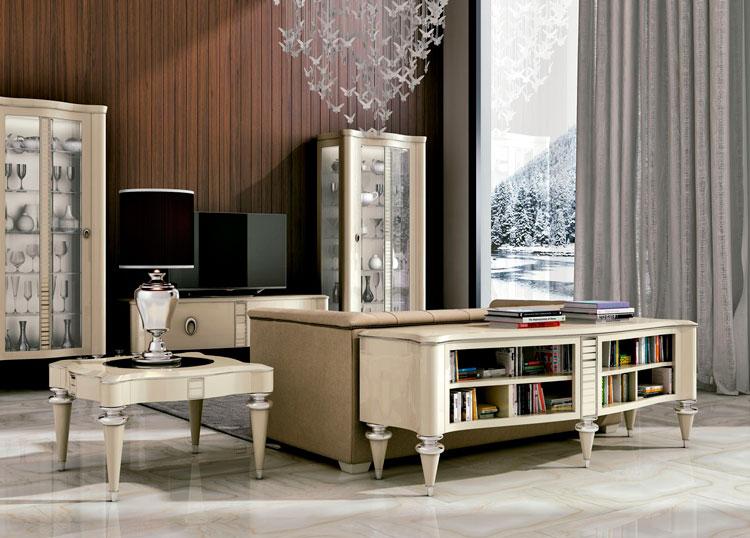 Muebles de lujo modernos saln moderno volga blanco with for Muebles lujo madrid
