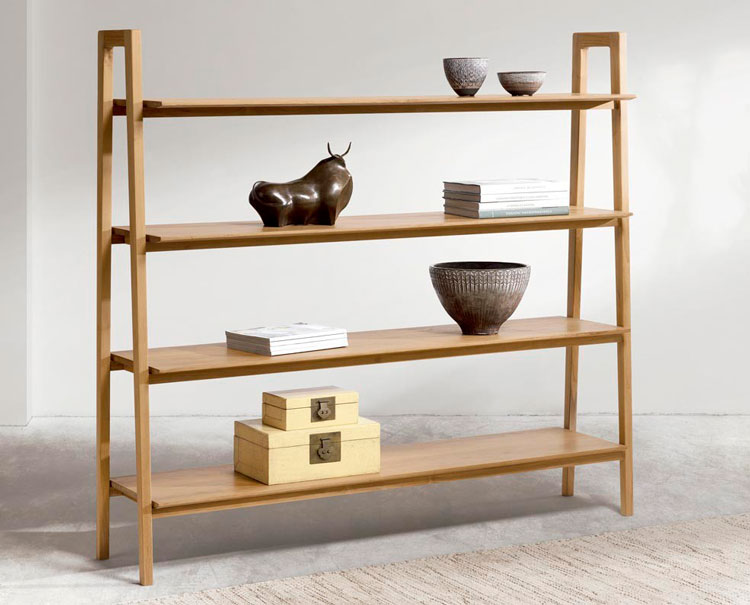Muebles de madera de teca para interiores contempor neos for Muebles madera teca