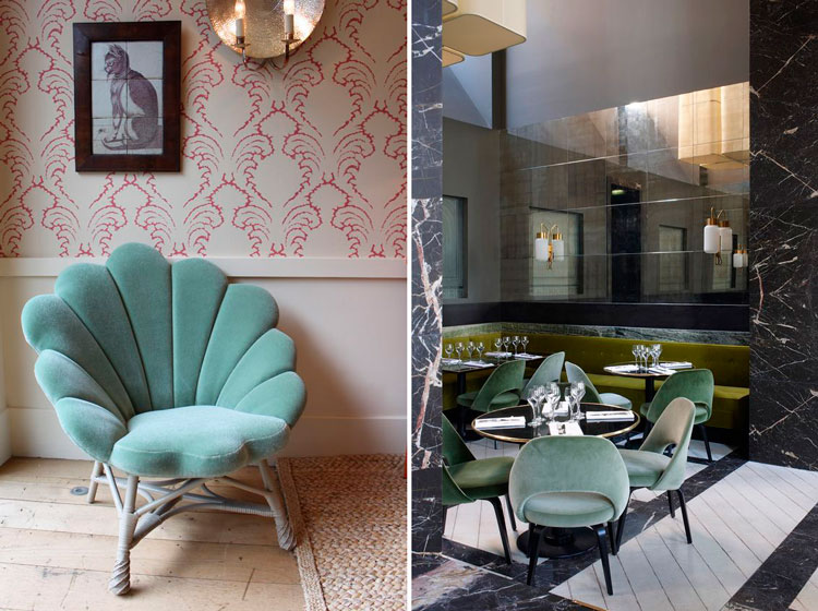 Moderno Muebles De La Cabecera De Terciopelo Verde Modelo - Muebles ...