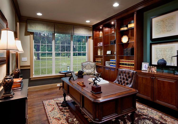 Elegancia cl sica y sobriedad para tu despacho blog de muebles y decoraci n de mbar muebles - Despachos en casa decoracion ...