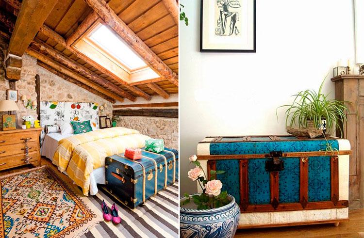 Decora tus interiores con ba les blog de muebles y - Decoracion con baules ...