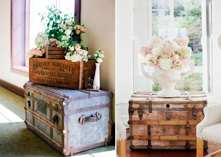 Decora tus interiores con ba les blog de muebles y - Decorar baul vintage ...