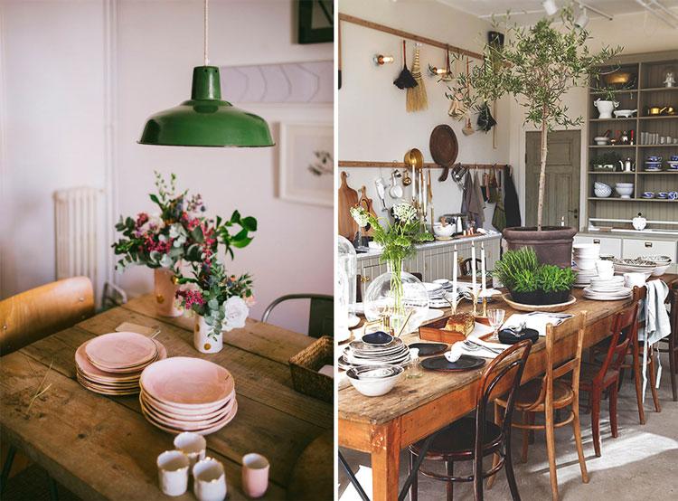 Muebles de estilo rústico y provenzal para comedores llenos de ...