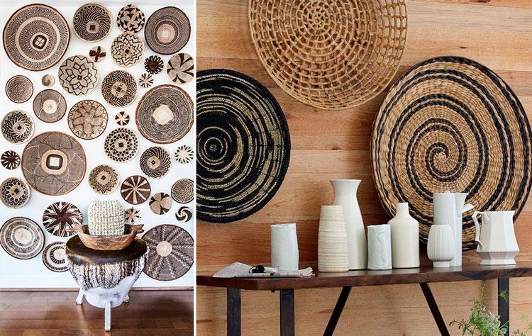 Ideas para decorar con cestas de mimbre blog de muebles y decoraci n de mbar muebles - Decorar con fotos en la pared ...