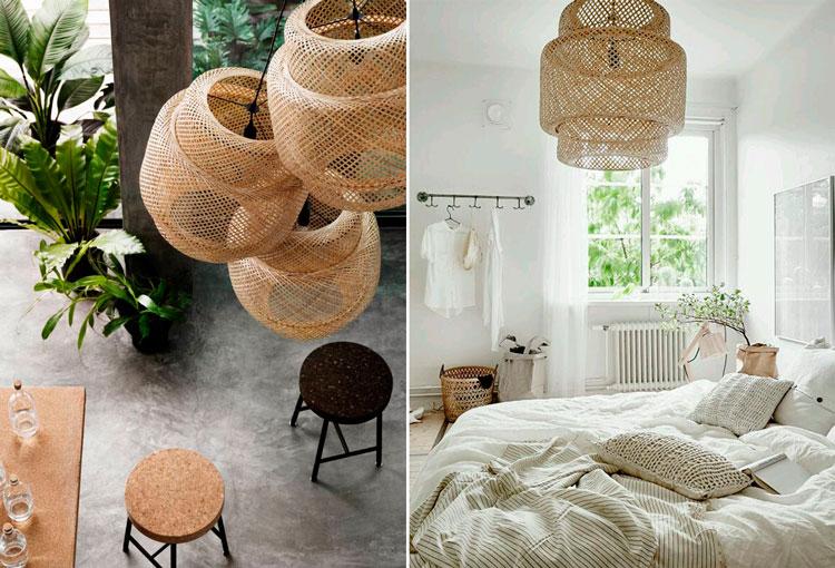 Ideas para decorar con cestas de mimbre blog de muebles - Lamparas de madera para pintar ...
