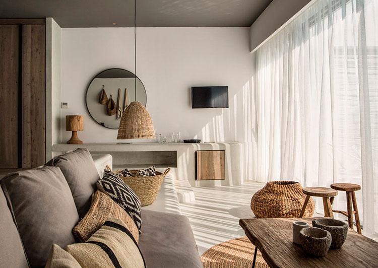 Muebles con cestos de mimbre mesita de noche de cajn y cestas de mimbre para armario tabla del - Cestos de mimbre blanco ...