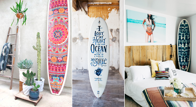 10 ideas para decorar tu apartamento de la playa blog de - Tabla surf decoracion ...