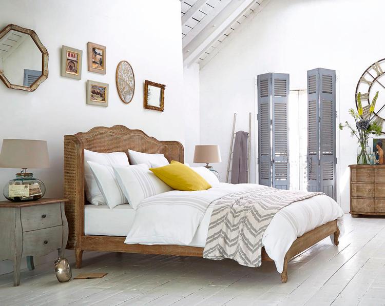 C mo crear un dormitorio rom ntico con cabeceros de rejilla blog de muebles y decoraci n de - Decorar cabeceros de cama ...