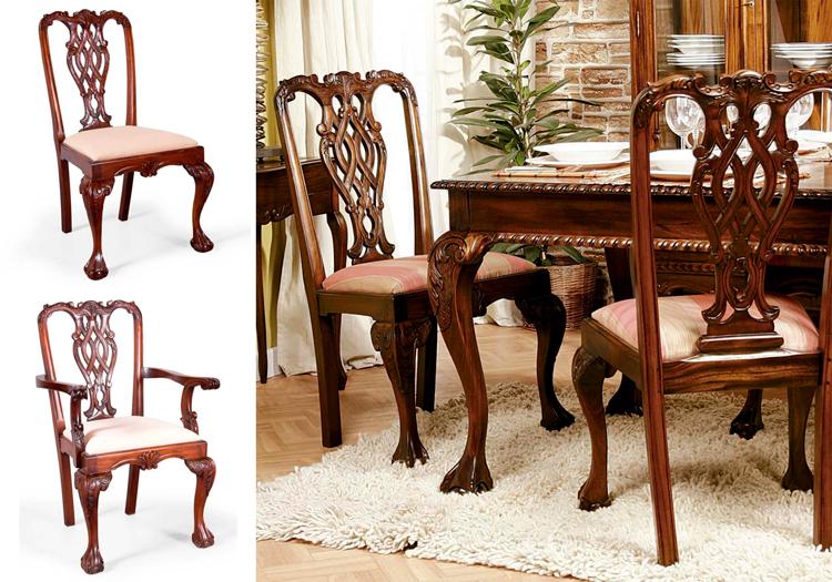 La silla reina ana un icono del mobiliario cl sico ingl s - Sillas chippendale ...
