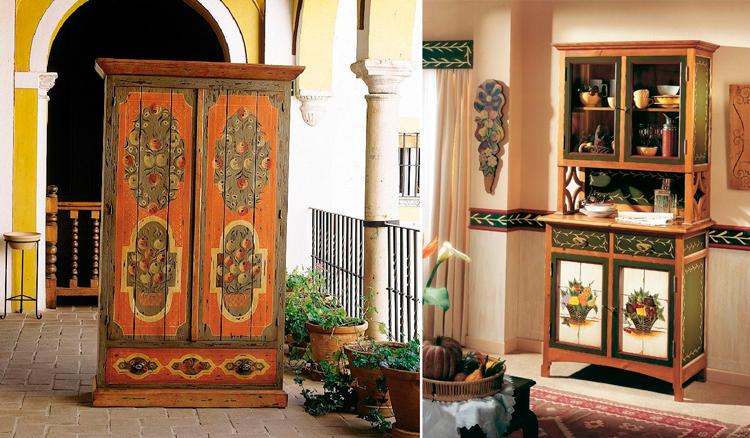 Decoracion De Muebles Pintados.Muebles Rusticos Pintados A Mano Inspiracion Campestre Para Tu