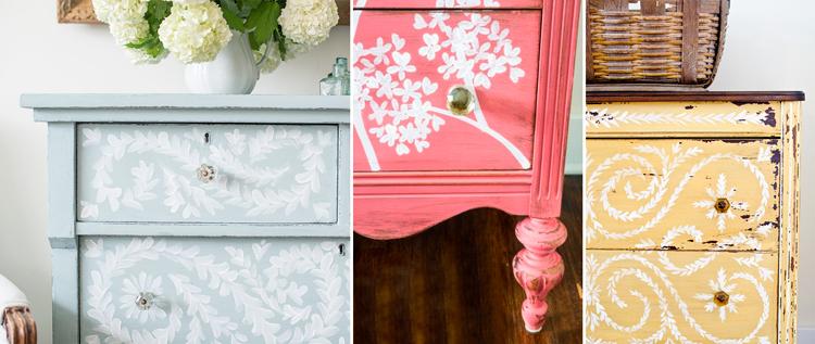 Muebles r sticos pintados a mano inspiraci n campestre - Muebles de mimbre pintados ...