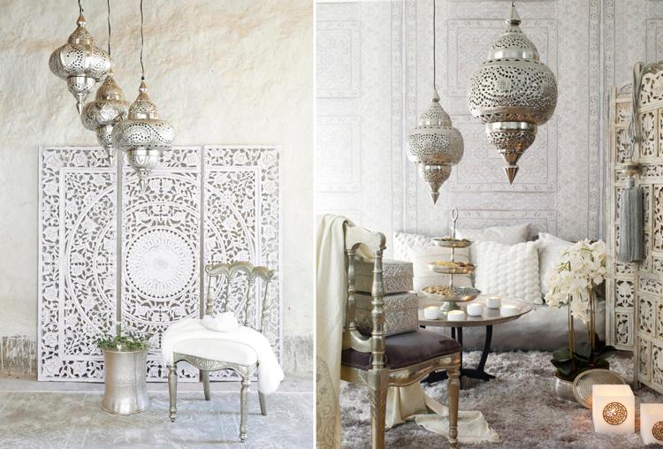 Crea tu rinc n tnico con l mparas troqueladas de - Muebles estilo marroqui ...