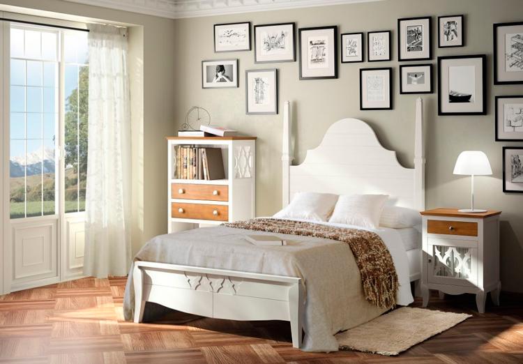 Cabeceros y camas con balaustres para dormitorios vintage for Muebles dormitorio vintage