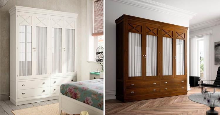 El armario con visillos ideal para ambientes vintage y - Visillos para dormitorios ...