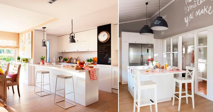 Ideas de decoraci n para cocinas de concepto abierto for Muebles bajo barra de cocina