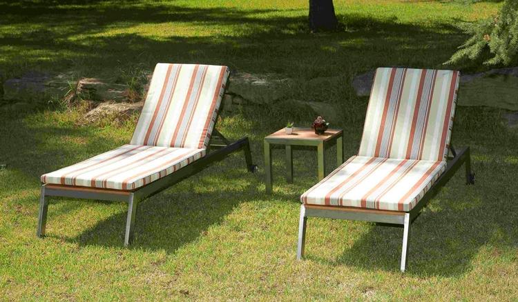 Tapicer a y tejidos para muebles de terraza y jard n - Colchonetas para tumbonas jardin ...