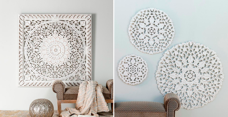 Decoraci n y muebles de inspiraci n hind un toque ex tico para tu hogar blog de muebles y - Paneles decorativos madera tallada ...